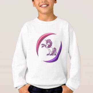 Le sweatshirt de la fille de conception de licorne