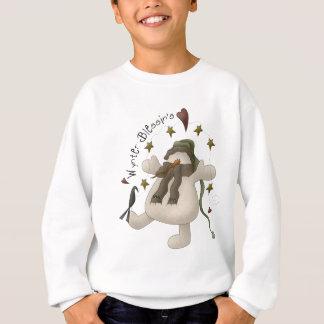 Le sweatshirt de l'enfant de bonhomme de neige de