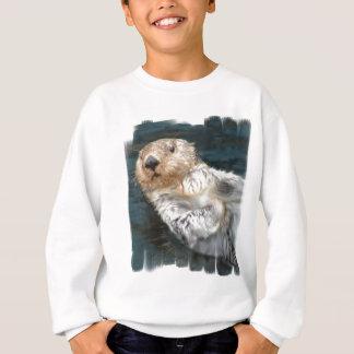 Le sweatshirt de l'enfant de loutre de mer