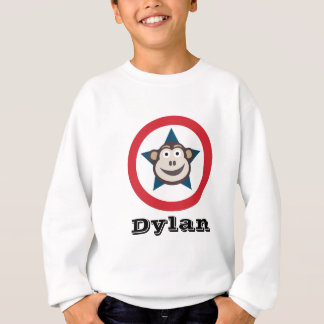 Le sweatshirt de l'enfant personnalisable de singe