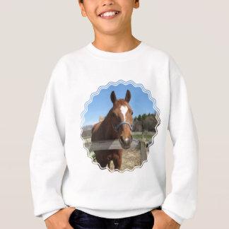 Le sweatshirt de l'enfant quart doux de cheval