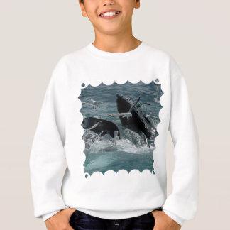 Le sweatshirt des enfants de baleine de bosse