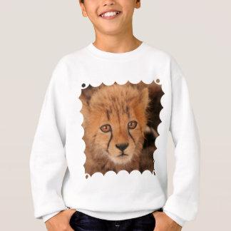 Le sweatshirt des enfants de guépard de bébé