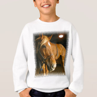 Le sweatshirt des enfants de photo de cheval de