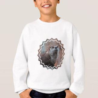 Le sweatshirt des enfants de photo de loutre