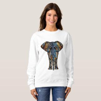 Le sweatshirt des femmes aztèques d'éléphant