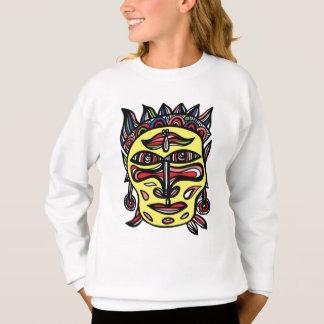"Le sweatshirt des filles ""de masque primitif"""