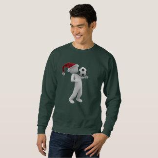 le sweatshirt des hommes de Noël du football