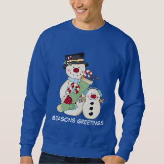 Le sweatshirt des hommes de vacances de bonhomme