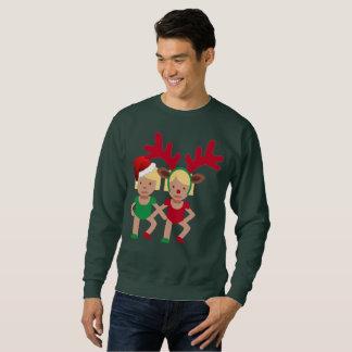 le sweatshirt des hommes d'emoji de jumeaux de