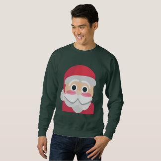 le sweatshirt des hommes d'emoji du père noël