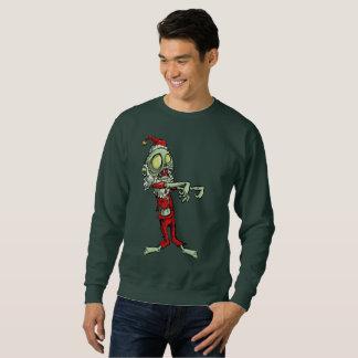 le sweatshirt des hommes du père noël de zombi de
