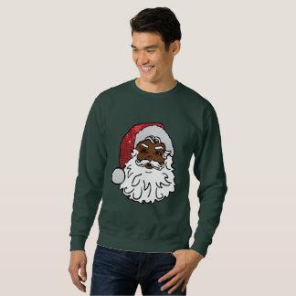 le sweatshirt des hommes noirs du père noël