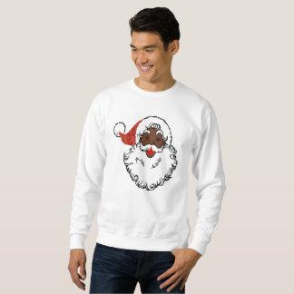 le sweatshirt des hommes noirs du père noël de