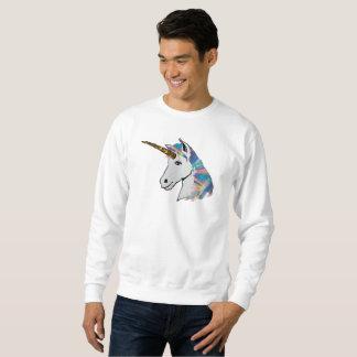 le sweatshirt des hommes olographes de licorne