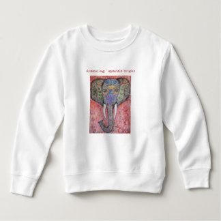 Le sweatshirt d'étincelle d'éléphant de la fille
