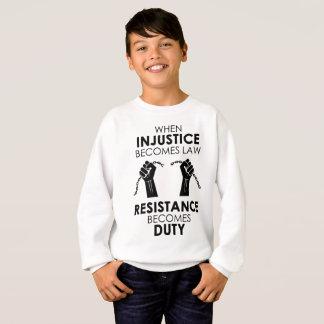 Le sweatshirt du garçon d'injustice