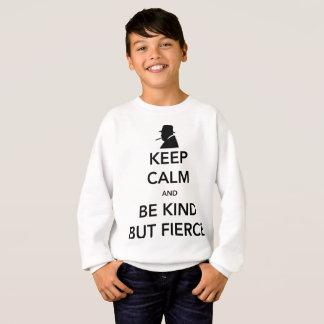 Le sweatshirt du garçon féroce