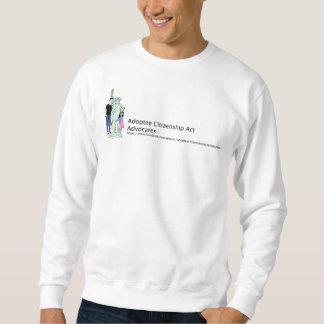 Le sweatshirt du m d'acte de citoyenneté d'adopté