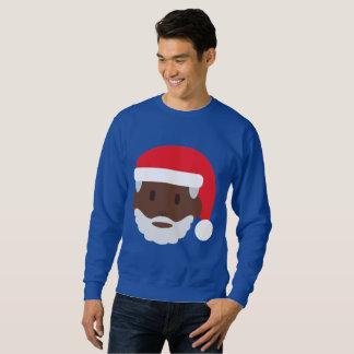 le sweatshirt du père noël d'emoji des hommes