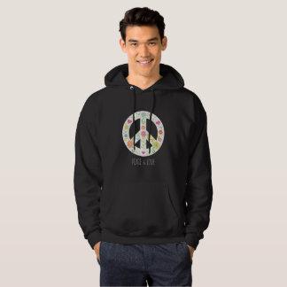 Le sweatshirt vert des hommes de paix et d'amour
