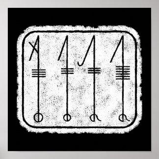 Le symbole de SVEFNTHORN Viking Poster