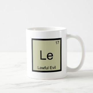 Le - Symbole drôle mauvais légal T d'élément de Mug Blanc