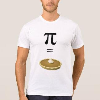 Le symbole du T-shirt pi égale le tarte