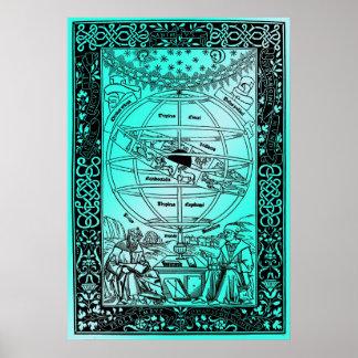 Le système de Ptolémée par Johanes de Monte REGIO Poster