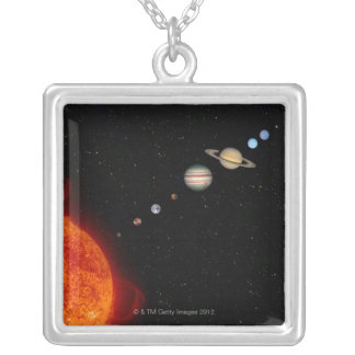 Le système solaire 2 pendentif carré