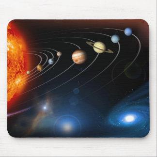 Le système solaire et au delà de Mousepad Tapis De Souris