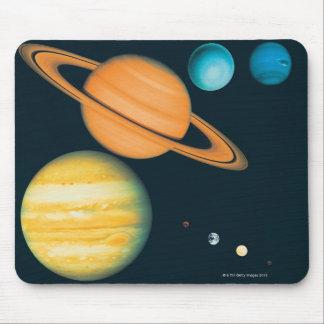 Le système solaire tapis de souris