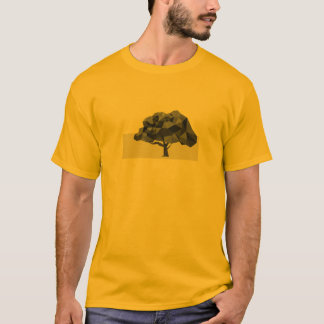 Le T-shirt abstrait des bas poly hommes d'arbre