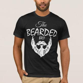 Le T-shirt américain barbu d'habillement de Bro