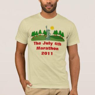 Le T-shirt américain d'habillement de marathon du