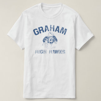 Le T-shirt blanc des hauts hommes de faucons de