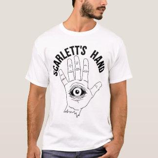 Le T-shirt blanc des hommes de logo de la main de