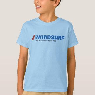 le T-shirt bleu de l'enfant d'iW