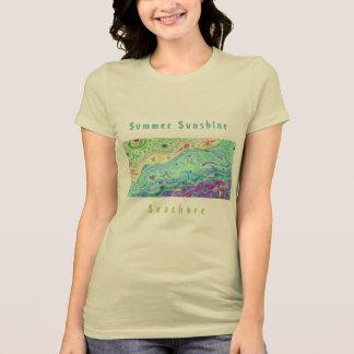 Le T-shirt crème mou des femmes : Art/texte de