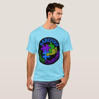 Le T-shirt de base d'autisme des hommes aux pieds