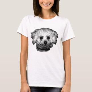 Le T-shirt de base des femmes de Bichon Frise