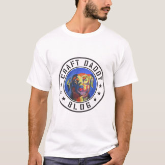 Le T-shirt de base des hommes de logo de blog de
