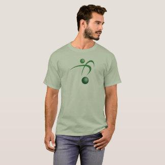 Le T-shirt de base des hommes verts de type de