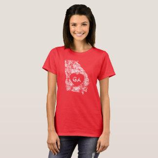 Le T-shirt de base d'I d'amour de la Géorgie des