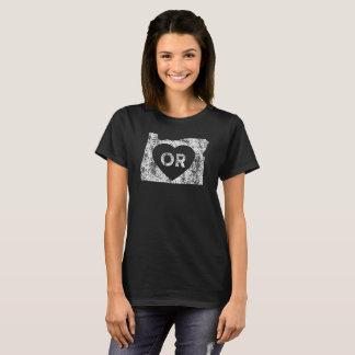 Le T-shirt de base d'I d'amour de l'Orégon des