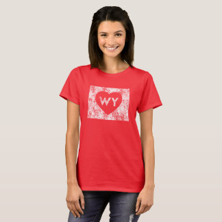 Le T-shirt de base d'I d'amour du Wyoming des