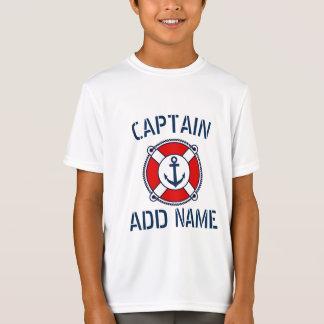 Le T-shirt de bateau de l'enfant nautique
