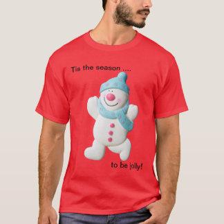 Le T-shirt de bonhomme de neige de nouveauté des
