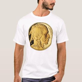 Le T-shirt de Buffalo de lingot d'or des hommes
