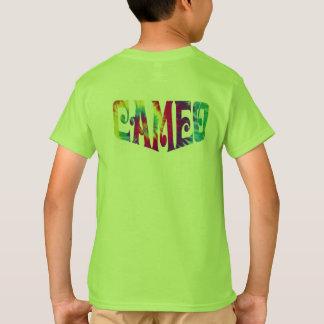 Le T-shirt de camée d'enfants avec teignent en